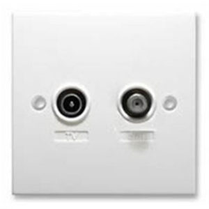 TV-SAT SCREENED OUTLET 1