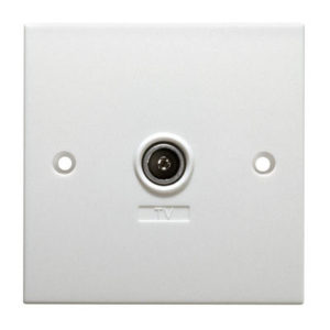 SINGLE COAX WALLPLATE 1