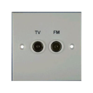 WALLPLATE DIPLEXED TV/FM 1